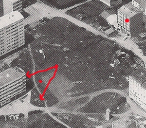 Barrio del Castrillón - Castros hacia 1974 - Zona Plaza de Los Caídos (hoy Concordia)